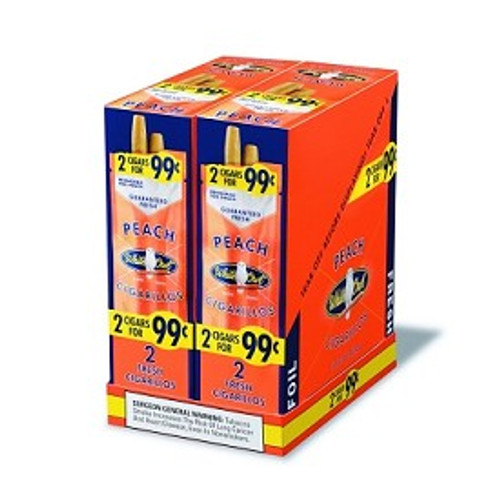 White Owl Cigarillos Peach 30 Pouches of 2