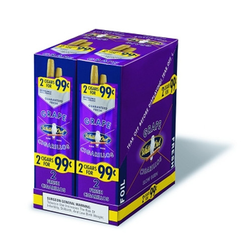 White Owl Cigarillos Grape 30 Pouches of 2