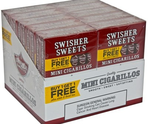 Swisher Sweets Mini Cigarillos Regular B1G1 Pack