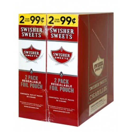 Swisher Sweets Cigarillos Foil Regular 30 Pouches of 2