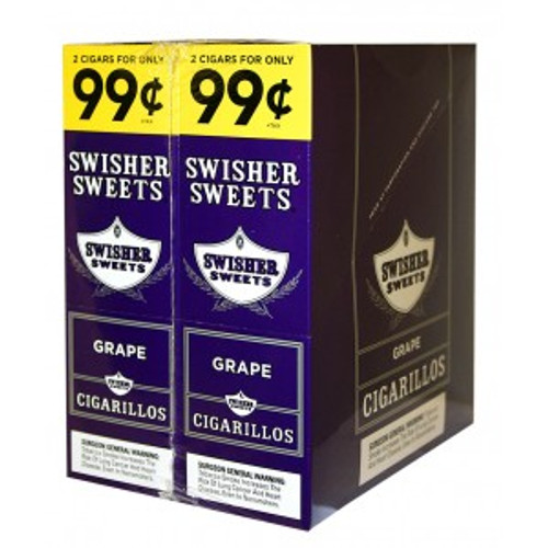 Swisher Sweets Cigarillos Foil Grape 30 Pouches of 2