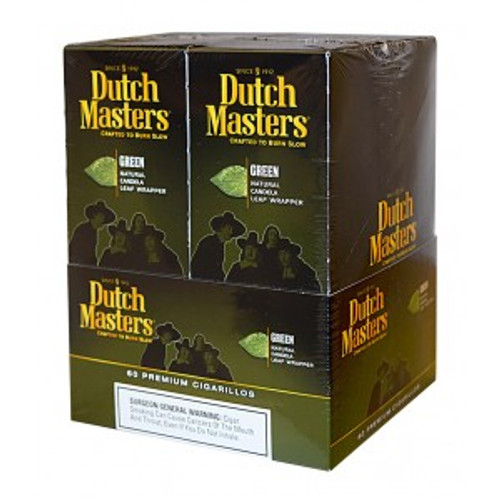 Dutch Masters Cigarillos Palma Green Foil 20 Pouches of 3