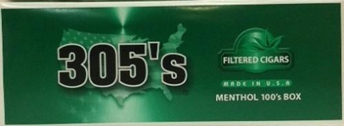 305's Filtered Cigars Menthol