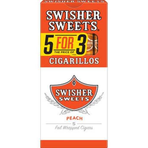 Swisher Sweets Cigarillo Peach Pack 5FOR3