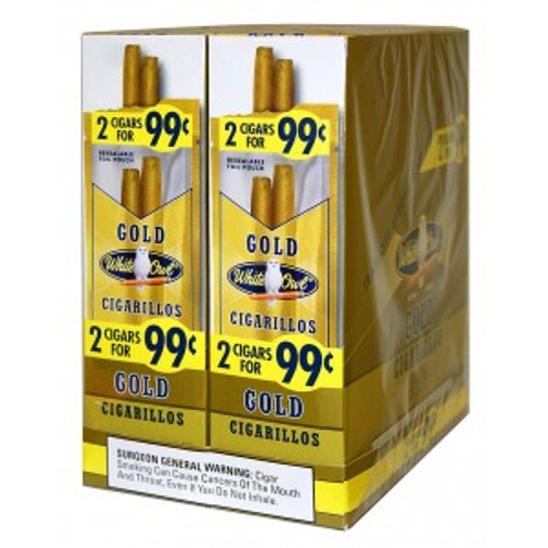 White Owl Cigarillos Gold 30 Pouches of 2