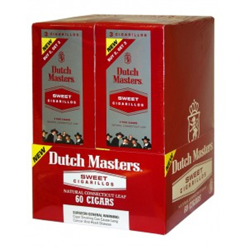 Dutch Masters Cigarillos Sweet Foil 20 Pouches of 3