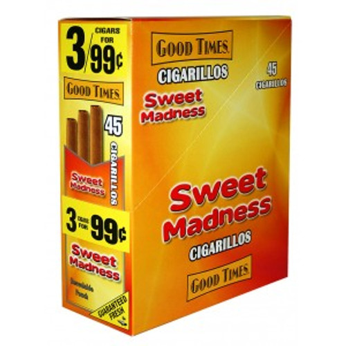Good Times Cigarillos Sweet Pouch 15 Pouches of 3
