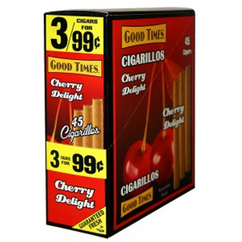 Good Times Cigarillos Cherry Delight Pouch 15 Pouches of 3