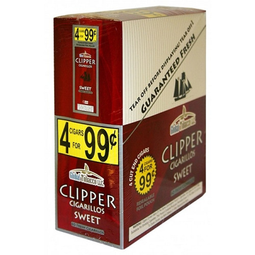 Clipper Cigarillos Sweet 15 Pouches of 4