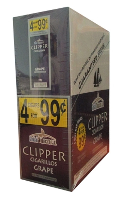Clipper Cigarillos Grape 15 Pouches of 4