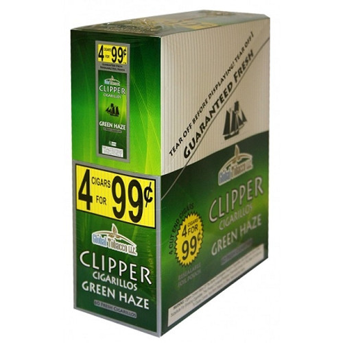 Clipper Cigarillos Green Haze 15 Pouches of 4