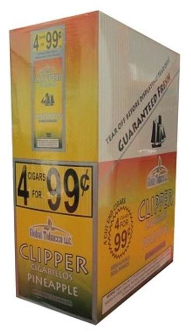 Clipper Cigarillos Pineapple 15 Pouches of 4