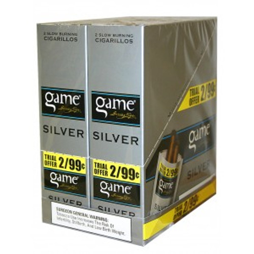 Game Cigarillos Foil Natural Silver 30 Pouches of 2