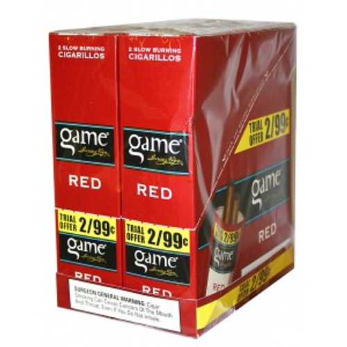 Game Cigarillos Foil Red 30 Pouches of 2