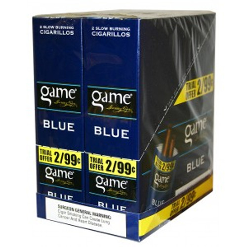 Game Cigarillos Foil Blue 30 Pouches of 2