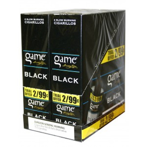 Game Cigarillos Foil Black 30 Pouches of 2