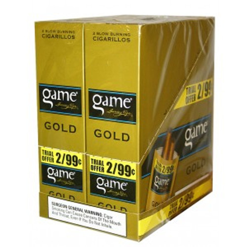 Game Cigarillos Foil Honey (Gold) 30 Pouches of 2
