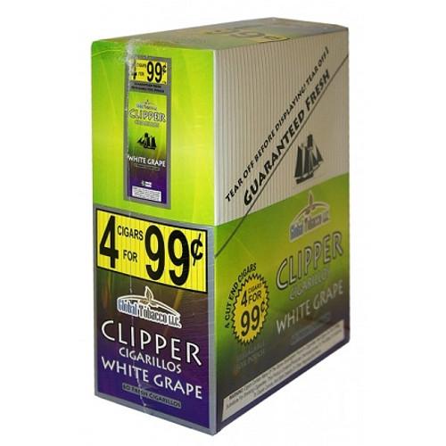 Clipper Cigarillos White Grape 15 Pouches of 4