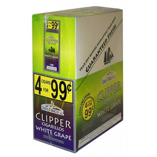 Clipper Cigarillos White Grape 15 Pouches of 4