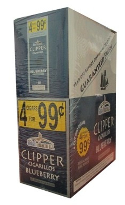 Clipper Cigarillos Blueberry 15 Pouches of 4
