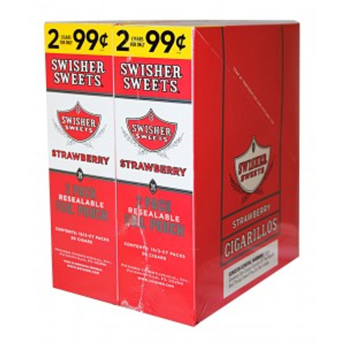 Swisher Sweets Cigarillos Foil Pouch Strawberry 30 Pouches of 2