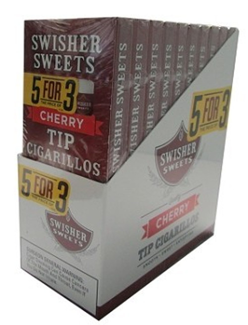 Swisher Sweets Tip Cherry Cigarillo 5FOR3 Pack