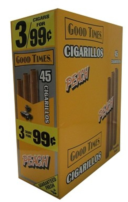 Good Times Cigarillos Peach Pouch 15 Pouches of 3