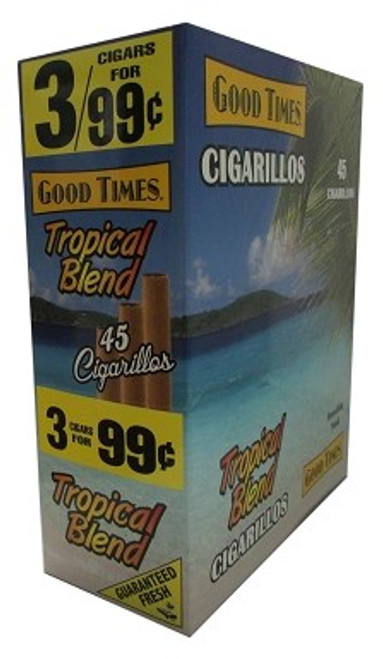 Good Times Cigarillos Tropical Blend Pouch 15 Pouches of 3