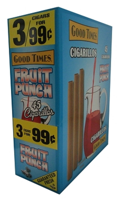 Good Times Cigarillos Fruit Punch Pouch 15 Pouches of 3