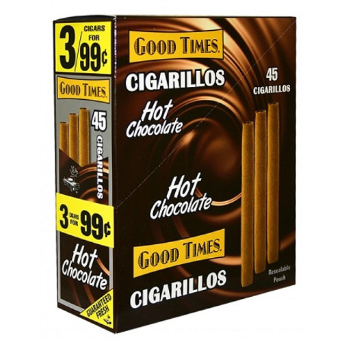 Good Times Cigarillos Hot Chocolate Pouch 15 Pouches of 3
