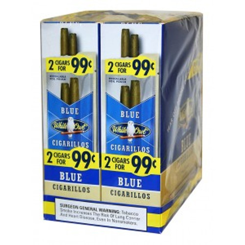White Owl Cigarillos Blue 30 Pouches of 2
