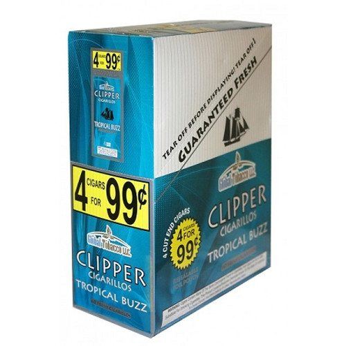 Clipper Cigarillos Tropical Buzz 15 Pouches of 4