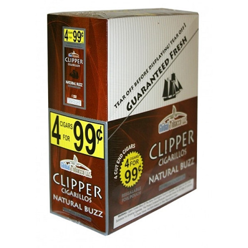 Clipper Cigarillos Natural Buzz 15 Pouches of 4