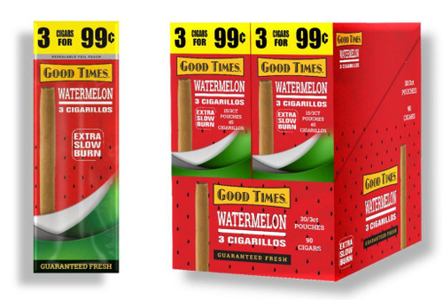 Good Times Cigarillos Watermelon 30 Pouches of 3