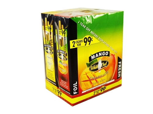 White Owl Cigarillos Mango 30 Pouches of 2