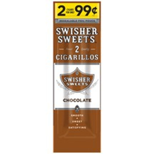 Swisher Sweets Cigarillos Foil Chocolate 30 Pouches of 2