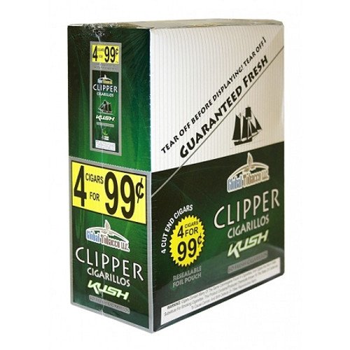 Clipper Cigarillos Kush 15 Pouches of 4