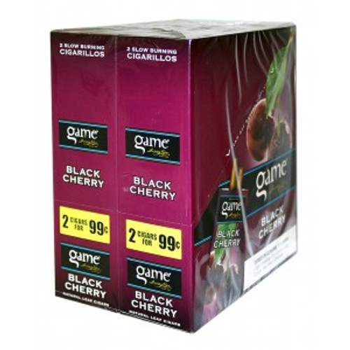 Game Cigarillos Foil Black Cherry 30 Pouches of 2