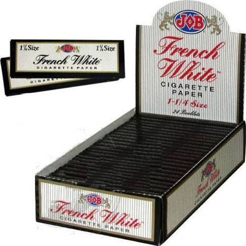 JOB French White Cigarette Paper 1 1/4 24Ct