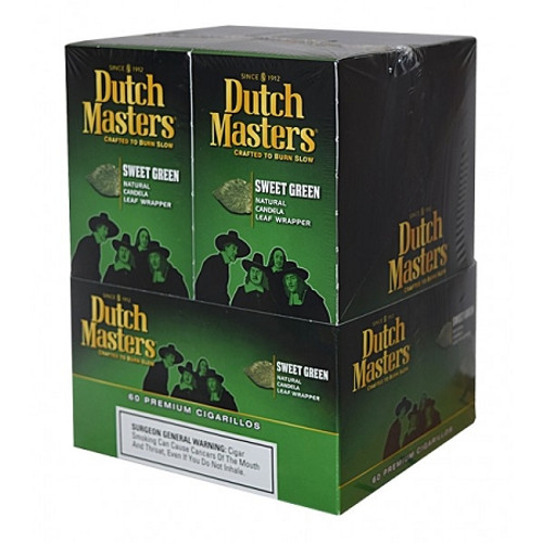 Dutch Masters Cigarillos Sweet Green Foil 20 Pouches of 3