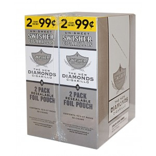 Swisher Sweets Cigarillos Foil Diamonds 30 Pouches of 2