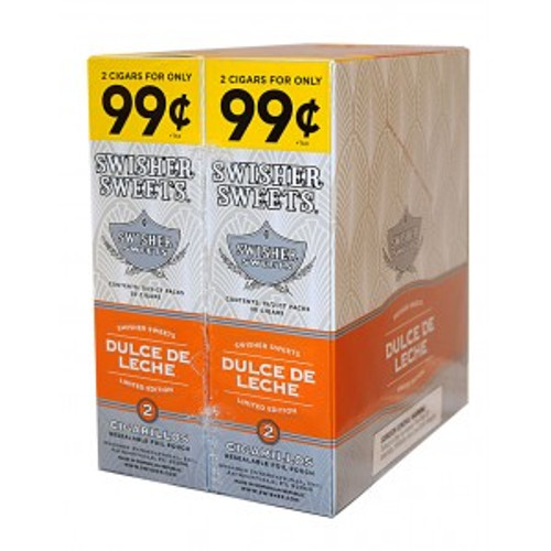 Swisher Sweets Cigarillos Foil Dulce De Leche 30 Pouches of 2