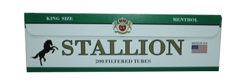 Stallion Cigarette Filter Tubes Menthol King 1000Ct