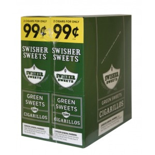 Swisher Sweets Cigarillos Foil Green Sweet 30 Pouches of 2