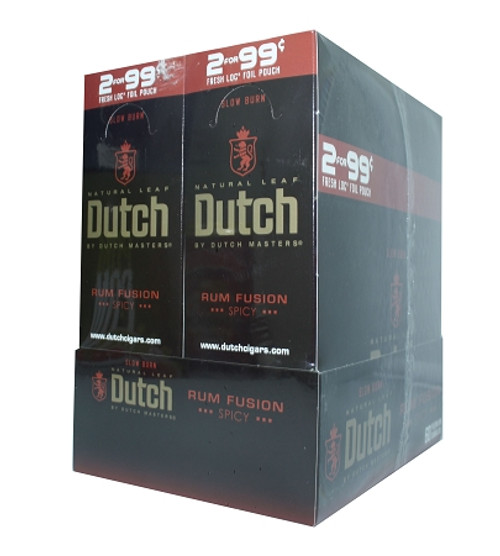 Dutch Masters Cigarillos Foil Rum Fusion 30 Pouches of 2