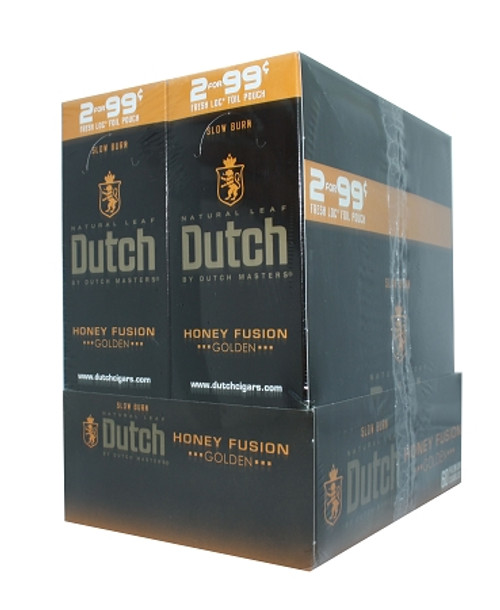 Dutch Masters Cigarillos Foil Honey Fusion 30 Pouches of 2