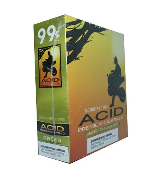 ACID Foil Cigarillos Green Candela Leaf 10/1