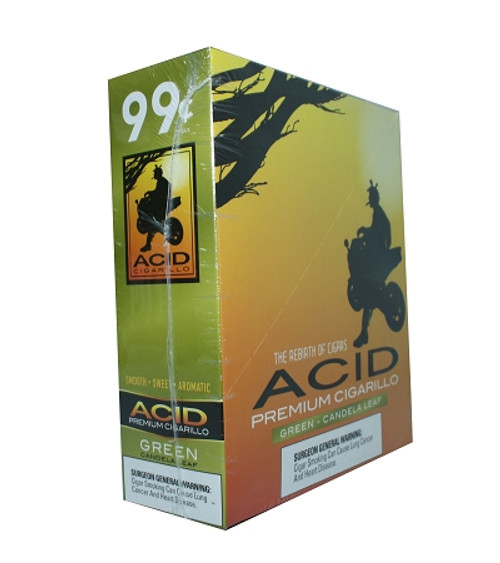 ACID Foil Cigarillos Green Candela Leaf 10/1