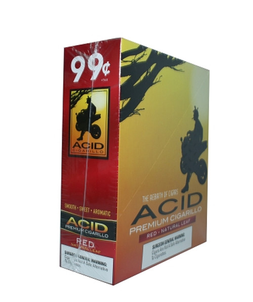 ACID Foil Cigarillos Red Natural Leaf 10/1