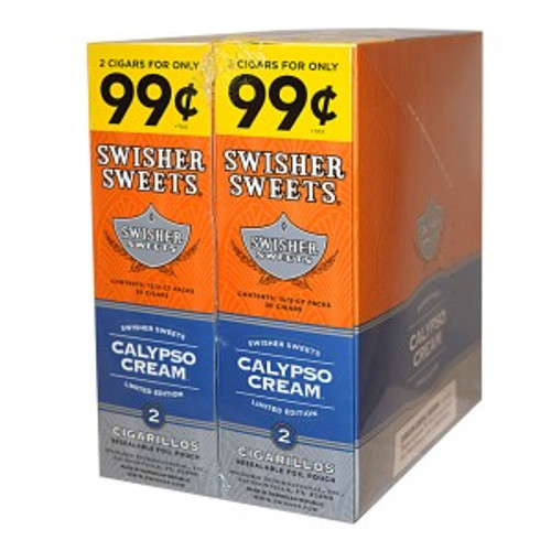 Swisher Sweets Cigarillos Foil Calypso Cream 30 Pouches of 2